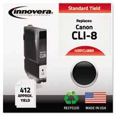 Remanufactured CLI-8BK (CLI8BK) Ink, 412 Yield, Black