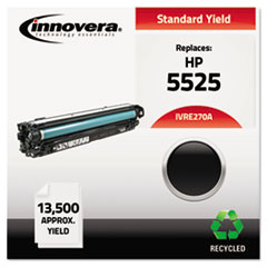 Remanufactured CE270A (5525) Toner, 13500 Page-Yield, Black