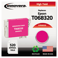 Remanufactured High-Yield T068320 (68) Ink, 520 Page-Yield, Magenta