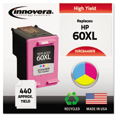 Remanufactured High-Yield CC644WN (60XL) Ink, 440 Page-Yield, Tri-Color