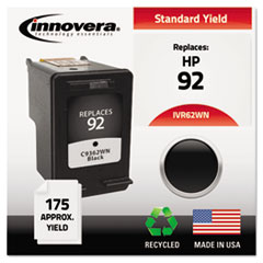 Remanufactured C9362WN (92) Ink, 175 Page-Yield, Black