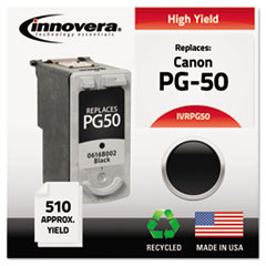 Remanufactured High-Yield 0616B002 (PG-50) Ink, 510 Page-Yield, Black