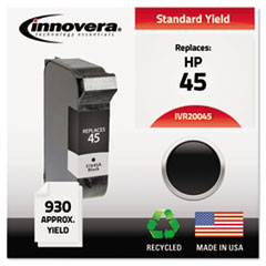 Remanufactured 51645A (45) Ink, 930 Page-Yield, Black