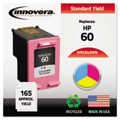 Remanufactured CC643WN (60) Ink, 165 Page-Yield, Tri-Color