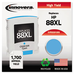 Remanufactured C9391AN (88XL) Ink, 1700 Page-Yield, Cyan