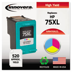 Remanufactured CB338WN (75XL) Ink, 520 Yield, Tri-Color