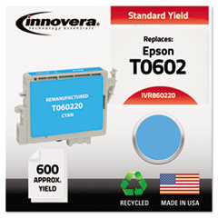 Remanufactured T060220 Ink, 600 Page-Yield, Cyan