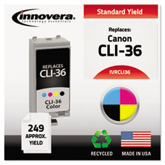 Remanufactured 1511B002 (CLI-36) Ink, Tri-Color