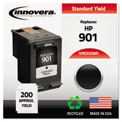 Remanufactured CC653AN (901) Ink, Black