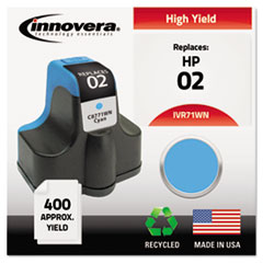Remanufactured C8771WN (02) Ink, 400 Page-Yield, Cyan