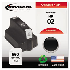 Remanufactured C8721WN (02) Ink, 660 Page-Yield, Black