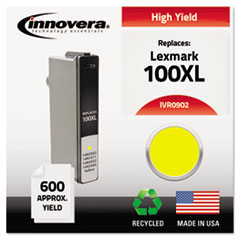 Remanufactured 14N0902 (100XL) High-Yield Ink, Yellow