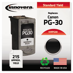 Remanufactured 1899B002 (PG-30) Ink, 215 Page-Yield, Black