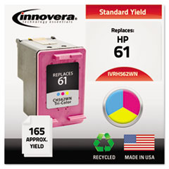 Remanufactured CH562WN (61) Ink, 165 Page-Yield, Tri-Color