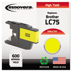 Remanufactured LC75Y High-Yield Ink, Yellow