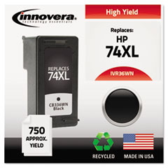 Remanufactured CB336WN (74XL) High-Yield Ink, Black