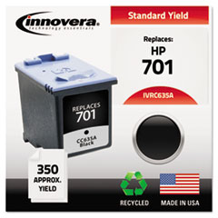 Remanufactured CC635A (701) Ink, Black