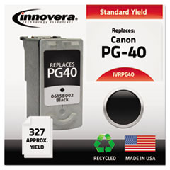 Remanufactured 0615B002 (PG40) Ink, 327 Yield, Black