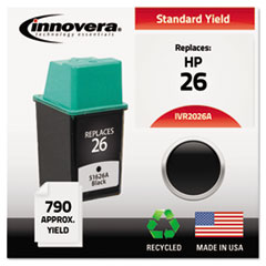 Remanufactured 51626A (26) Ink, 790 Page-Yield, Black