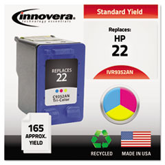 Remanufactured C9352AN (22) Ink, 165 Page-Yield, Tri-Color