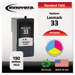 Remanufactured 18C0033 (33) Ink, Tri-Color