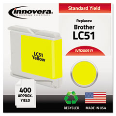 Remanufactured LC51Y Ink, Yellow
