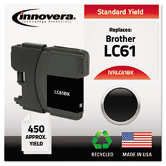 Remanufactured LC61BK Ink, Black