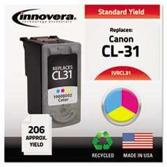 Remanufactured 1900B002 (CL-31) Ink, 206 Page-Yield, Tri-Color