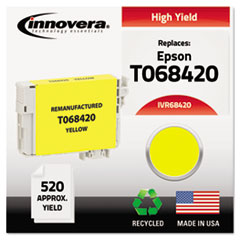 Remanufactured High-Yield T068420 (68) Ink, 520 Page-Yield, Yellow