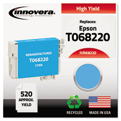 Remanufactured High-Yield T068220 (68) Ink, 520 Page-Yield, Cyan