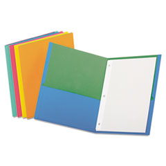 Twisted Twin Pocket Folder with Fasteners, 135-Sheet Capacity, Assorte