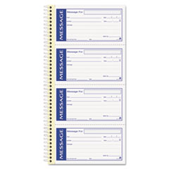 Write n Stick Phone Message Pad, 2 3/4 x 4 3/4, Two-Part Carbonless, 200 Forms