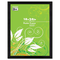 BLACK WOOD POSTER FRAME W/PLASTIC WINDOW, WIDE