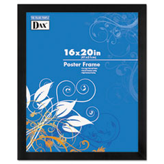 Black Solid Wood Poster Frames w/Plastic Window, Wide Profile, 16 x 20
