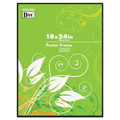 Coloredge Poster Frame, Clear Plastic Window, 18 x 24, Black