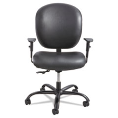 Alday Series Intensive Use Chair, Vinyl Back, Vinyl Seat, Black