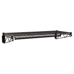 MotivationUSA * Steel Wire Wall Shelf Rack, 48w x 18-1/2d x 7-1/2h, Black