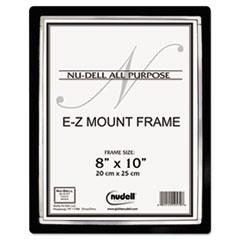 EZ Mount II Document Frame, Plastic, 8 x 10, Black/Silver NUD13800
