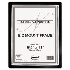 EZ Mount II Document Frame, Plastic, 8-1/2 x 11, Black/Silver NUD13880