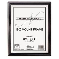 EZ Mount Document Frame, Plastic, 8 1/2 x 11, Black NUD10570