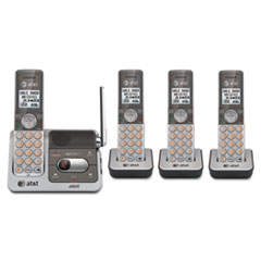 CL82401 Cordless Digital Answering System, Base and 3 Additional Handsets