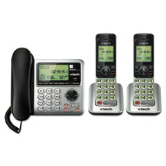 CS6649-2 Digital Answering System, Corded Base and 2 Cordless Handsets