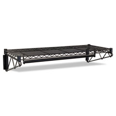 MotivationUSA * Steel Wire Wall Shelf Rack, 36w x 18-1/2d x 7-1/2h, Black
