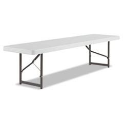 IndestrucTable TOO Folding Bench, 60w x 18d x 17-1/4h, Platinum ICE65953