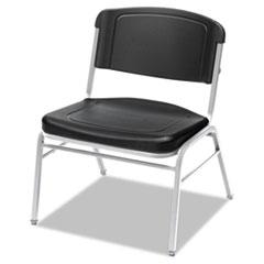 Rough N Ready Series Big & Tall Stackable Chair, Black/Silver, 4/Carton