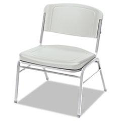 Rough N Ready Series Big & Tall Stackable Chair, Platinum/Silver, 4/Carton