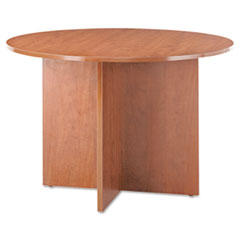 Valencia Round Conference Table w/Legs, 29-1/2h x 42 dia., Medium Cherry