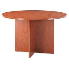 Valencia Round Conference Table w/Legs, 29-1/2h x 47-3/4 dia., Medium Cherry
