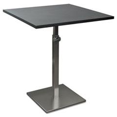 Balt Height-Adjustable Bistro Table, 31-1/2w x 31-1/2d x 30 to 43-1/2h, Bla