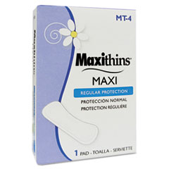Maxithins Thin, Full Protection Pads, 250 Individually Boxed Napkins/Carton